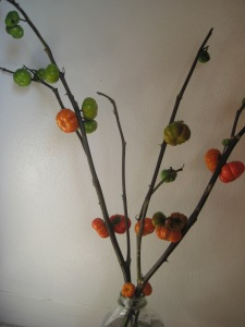 pumpkins on a stick